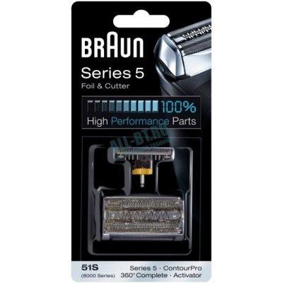 Сетка и режущий блок Braun Series 5 51S (8000-360  (Сет+р.б)) braun as 530