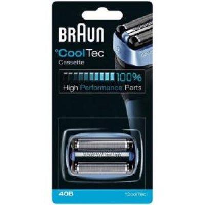 Картридж для электробритв Braun CoolTec 40B Бритвенная кассета (alaska). (CoolTec 40B(Сет+р.б))