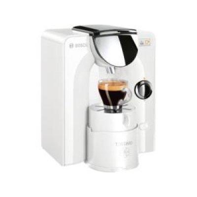 Кофемашина Bosch TAS 5544EE белый (TAS5544EE)Кофемашины Bosch<br>капсульная кофемашина<br>автоматическая<br>для кофе в капсулах<br>капсулы Tassimo<br>регулировка порции воды<br>самоочистка от накипи<br>приготовление капучино<br>отключение при неиспользовании<br>подсветка рабочей зоны<br>
