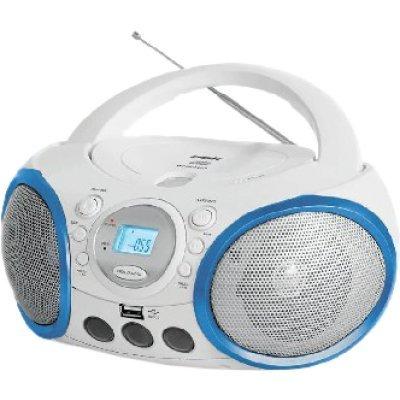 Аудиомагнитола BBK BX150U белый/голубой (BBK BX150U белый/голубой)Аудиомагнитолы BBK<br>BBK BX150U - ультрасовременная CD-магнитола, которая позволяет устроить зажигательную вечеринку где угодно. Модель воспроизводит MP3-файлы с USB-носителей или компакт-дисков. Для приема эфирных радиостанций в BBK BX150U предусмотрен радио-тюнер.<br>