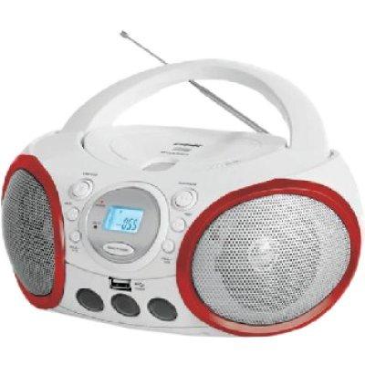 Аудиомагнитола BBK BX150U белый/красный (BBK BX150U белый/красный)Аудиомагнитолы BBK<br>BBK BX150U - ультрасовременная CD-магнитола, которая позволяет устроить зажигательную вечеринку где угодно. Модель воспроизводит MP3-файлы с USB-носителей или компакт-дисков. Для приема эфирных радиостанций в BBK BX150U предусмотрен радио-тюнер.<br>