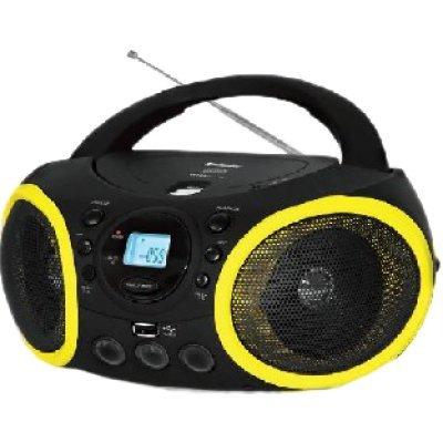 Аудиомагнитола BBK BX150U черный/желтый (BBK BX150U черный/желтый)