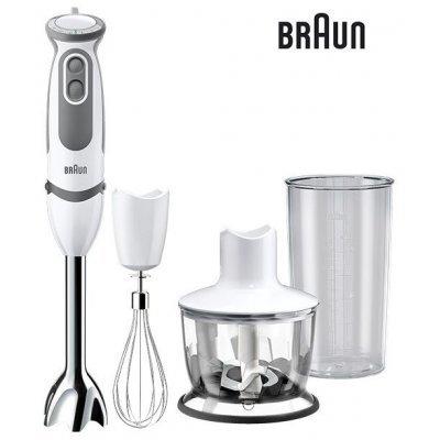 Блендер Braun погружной MQ5035 Sauce белый/серый (MQ 5035)Блендеры Braun<br>погружной блендер<br>мощность 750 Вт<br>механическое управление<br>измельчитель<br>мерный стакан<br>корпус из пластика<br>плавная регулировка скорости<br>