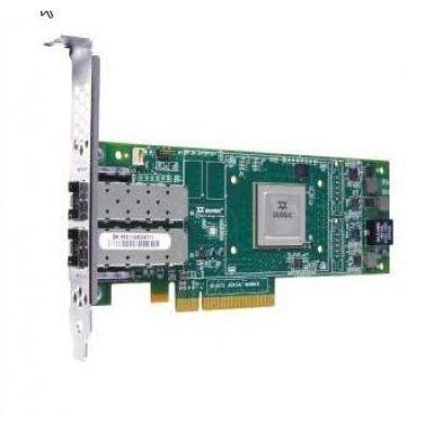 Сетевой адаптер QLogic QLE2662 Dual Port 16Gbps Fibre Channel PCIe HBA Card, Full Height, 406-10741 (406-10741)Контроллеры Fibre Channel Dell<br>QLogic QLE2662 Dual Port 16Gbps Fibre Channel PCIe HBA Card, Full Height, (406-10741), (replacement QLE2562)<br>