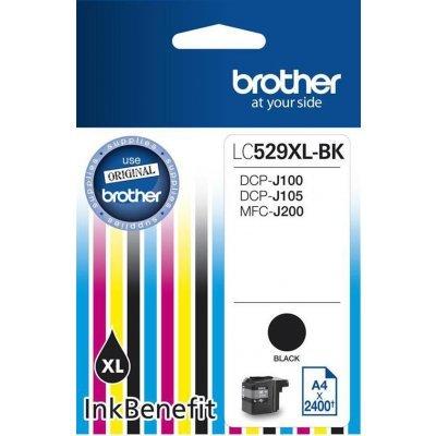 Картридж для струйных аппаратов Brother LC-529XLBK для CP-J100 DCP-J105 DCP-J200 Чёрный 2400стр LC529XLBK (LC529XLBK)Картриджи для струйных аппаратов Brother<br>Картридж Brother LC-529XLBK для CP-J100 DCP-J105 DCP-J200 Чёрный 2400стр LC529XLBK<br>