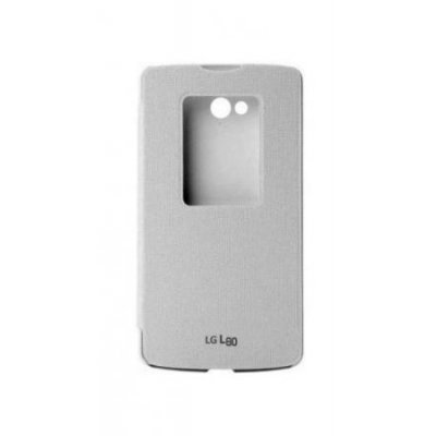 Чехол для смартфона LG QuickWindow Case для L80 D380 белый (CCF-510.AGRAWH)Чехлы для смартфонов LG<br>Для LG L80. Белый. Полиуретан.<br>