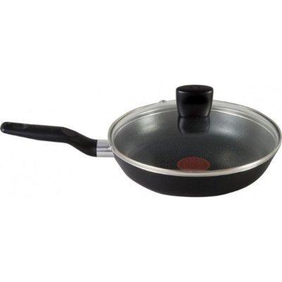 Сковорода Tefal 040 82 100 24см Just Black со стеклянной крышкой (9100015400)Сковороды Tefal<br>Материал: алюминий. Материал ручек: бакелит. Антипригарное покрытие. Подходит для посудомоечной машины.<br>