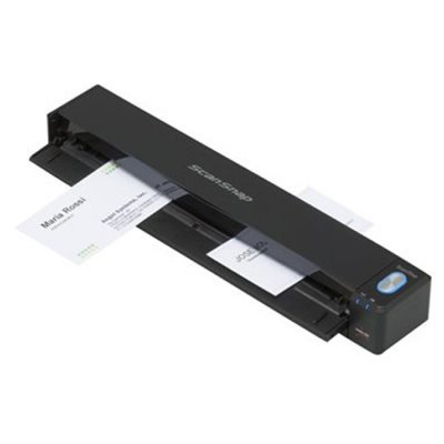 Сканер протяжной портативный (A4) Fujitsu ScanSnap iX100 (PA03688-B001)Сканеры Fujitsu<br>компактный  портативный сканер, 600 dpi,  A4, 5,2 сек./стр., ADF, WiFi<br>
