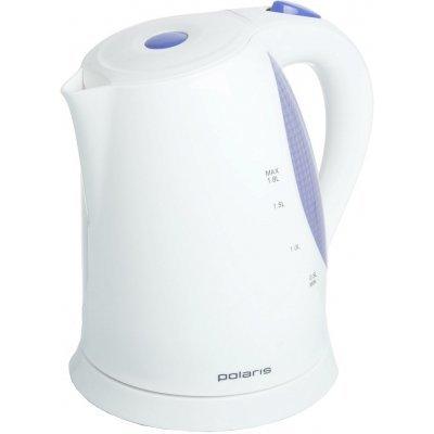 Электрический чайник Polaris PWK1822CLR (PWK1822CLR белый/серый)Электрические чайники Polaris<br>чайник<br>    объем 1.8 л<br>    мощность 2200 Вт<br>    закрытая спираль<br>    установка на подставку в любом положении<br>    пластиковый корпус<br>    индикация включения<br>