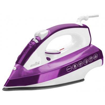 Утюг Smile SI 975 (SI 975 бело/сиреневый)Утюги Smile <br>утюг мощность 2200 Вт керамическая подошва паровой удар вертикальное отпаривание<br>
