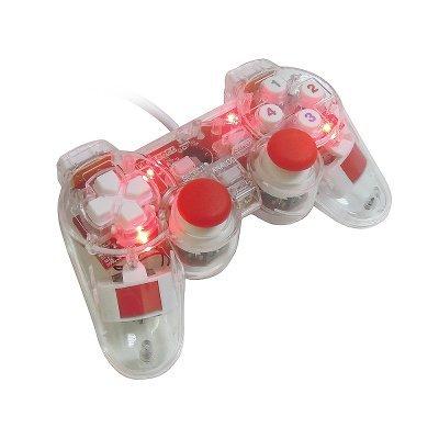 Геймпад для ПК 3Cott GP-01 (GP-01)Геймпады для ПК 3Cott<br>12 конпок, вибрация , USB, прозрачный корпус<br>