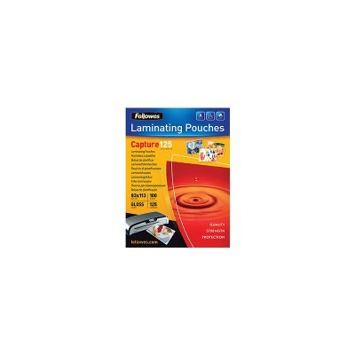 Пленки для ламинирования Fellowes 83x113мм, 125 мкм, 100 шт. (FS-53071) (FS-53071)Пленки для ламинирования Fellowes<br>Пленка для горячего ламинирования Fellowes глянцевая, с высоким содержанием полиэстера (50%). Используется для защиты документов от влаги, загрязнения, механических повреждений, придания жесткости и яркости. Обладает высокой прозрачностью. Трехслойная структура: ПВХ + ПЭТ + ЭВА.<br>
