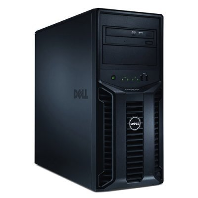 Фото Сервер Dell PowerEdge T110-II E3-1240v2, 8Gb, (2)x300GB SAS + 500GB SATA, H200, DVDRW, 1GbE, BMC, 305W, 3Y NBD