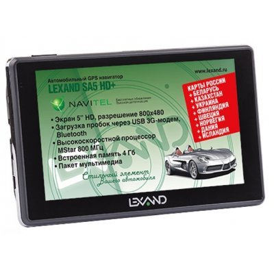 Навигатор GPS Lexand SA5 HD+ 5 (SA5 HD+) gps навигатор lexand sa5 5 авто 4гб navitel серый
