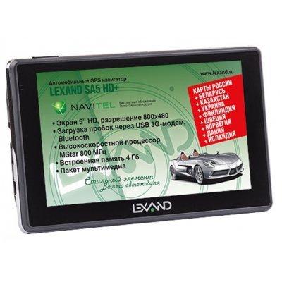Навигатор GPS Lexand SA5 HD+ 5 (SA5 HD+) навигатор lexand sa5 5 поддержка 3g модема bt навител 9 стран