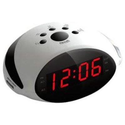 Радиобудильник Rolsen CR-170W белый (1-RLDB-CR-170W)Радиобудильники Rolsen<br>Цветбелый<br>Тип часовцифровой<br>Подсветкакрасная<br>Тип дисплеясветодиодный<br>Звуковой сигналДа<br>Звуковой радиосигналДа<br>Повторный сигнал (после пробуждения)Да<br>Таймер отключенияДа<br>Диапазоны тюнераAM/FM/SW<br>Регулятор громкостивлево/вправо<br>