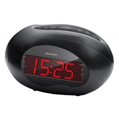 Радиобудильник Rolsen CR-190 черный (1-RLDB-CR-190)Радиобудильники Rolsen<br>Типрадиобудильник<br>Настройка частотыцифровая<br>ПриемFM, УКВ, СВ<br>Отображение информациидисплей<br>Функциичасы<br>Элементы питанияAAA<br>Питание от сетиесть<br>Дополнительная информацияповтор сигнала будильника через 9 минут<br>