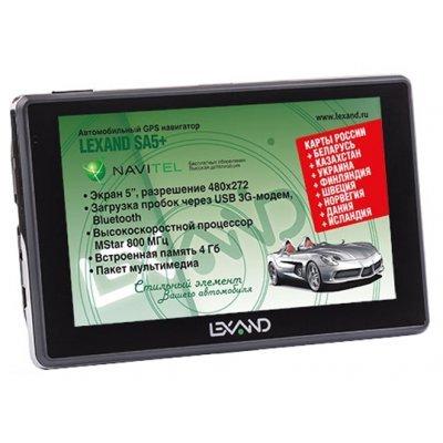 Навигатор GPS Lexand SA5+ (SA5+) gps навигатор lexand sa5 hd 5 авто 4гб navitel 8 7 с расширенным пакетом картографии черный