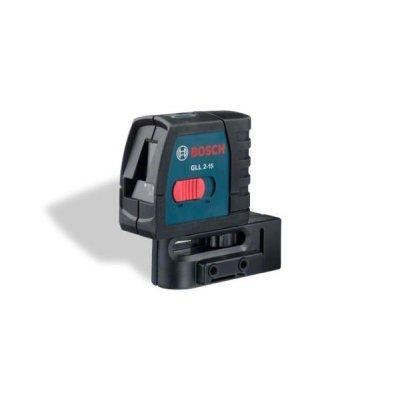 Нивелир Bosch GLL 2-15 Professional (0601063701)Нивелиры Bosch<br>Вес, ок. 0,3 кг<br>Время работы, макс. 15 ч<br>Высота 96 мм<br>Диапазон самонивелирования ± 4 °<br>Длина 80 мм<br>Проекция 2 линии<br>Рабочий диапазон 15 м<br>Точность нивелирования ± 0.3 мм/м<br>Ширина 42 мм<br>lr2<br>Защита от пыли и водяных брызг IP 5X<br>Источники питания 3 x 1.5-V-LR6 (AA)<br><br>gll 2-50 prof<br>Класс лазе ...<br>