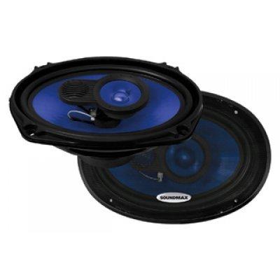 Колонки автомобильные Soundmax SM-CSE693 (SM-CSE693)Колонки автомобильные Soundmax<br>трехполосная коаксиальная АС<br>    типоразмер: овальный 15x23 см (6x9 дюйм.)<br>    номинальная мощность 110 Вт<br>    максимальная мощность 220 Вт<br>    чувствительность 92 дБ<br>    импеданс 4 Ом<br>    диапазон частот 45 - 20000 Гц<br>