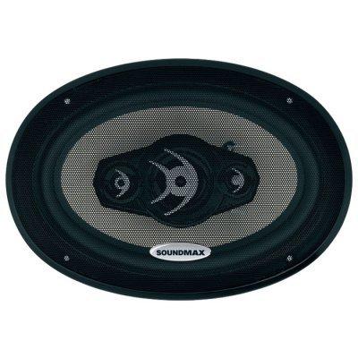 Колонки автомобильные Soundmax SM-CSA694 (SM-CSA694)Колонки автомобильные Soundmax<br>Тип<br><br>    коаксиальная АС <br><br>Типоразмер<br><br>    овальный 15x23 см (6x9 дюйм.) <br><br>Количество полос<br><br>    4 <br><br>Мощность<br><br>    120 Вт (номинальная), 240 Вт (максимальная) <br><br>Чувствительность<br><br>    92 дБ <br><br>Диапазон воспроизводимых частот<br>    30 - 22000 Гц <br><br>Импеданс<br><br>    4 Ом <br><br>СЧ-динамик<br><br>Магнит<br>    неодимовый <br><br> ...<br>