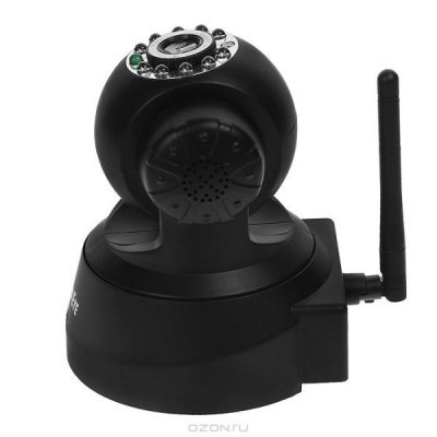 Камера видеонаблюдения Falcon Eye FE-MTR300Bl-P2P (FE-MTR300Bl-P2P)Камеры видеонаблюдения Eye<br>Тип Беспроводная камера Тип сенсора 1/4 Color CMOS<br>Угол обзора По горизонтали 340°; По вертикали 90° Разрешение видеокамеры 640<br>Разрешение матрицы 640 x 480 пикселей Микрофон Встроенный<br>Подсветка Инфракрасная Интерфейс подключения RJ-45 (10/100 Мбит/сек)<br>IEEE 802.11b/g<br>Комплект пос ...<br>
