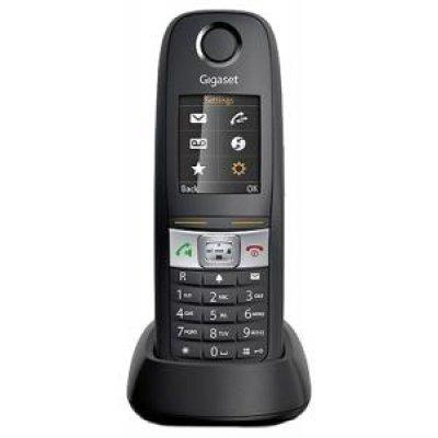 Радиотелефон Gigaset E630H (S30852-H2553-S301)Радиотелефоны Gigaset<br>Модель: Gigaset E630H<br>Тип: Базовая станция + трубка<br>Возможности: Громкая связь,Поддержка SMS<br>Стандарт: DECT/GAP<br>Цвет корпуса: Черный<br>Количество трубок в комплекте: 1<br>Количество входящих телефонных линий: 1<br>Максимальный радиус действия: Радиус действия в помещении / на открытой местности - 50 ...<br>