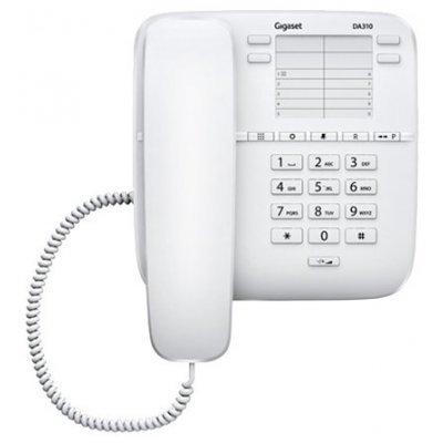 Радиотелефон Gigaset DA310 White проводной (S30054-S6528-S302)Радиотелефоны Gigaset<br>Общие характеристики<br>Автоответчикнет<br>Дисплейнет<br>Спикерфоннет<br>Память<br>Память (количество номеров)14<br>Однокнопочный набор (количество кнопок)14<br>Другие функции и особенности<br>Кнопка выключения микрофонаесть<br>Регулятор уровня громкостив трубке, звонка<br>Возможность настенной установкиесть<br>Функции набо ...<br>