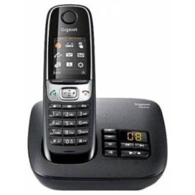 Радиотелефон Gigaset C620A (S30852-H2423-S301)Радиотелефоны Gigaset<br>Тип: Базовая станция + трубка<br>Стандарт: DECT/GAP<br>Количество трубок в комплекте: 1<br>Максимальный радиус действия: 50 / 300 м<br>Связь между трубками: между несколькими трубками<br>АОН: есть/есть, журнал на 20 номеров<br>Телефонная книга: есть, на 250 номеров<br>Память: 20<br>Поддержка конференц-связи: есть<br> ...<br>