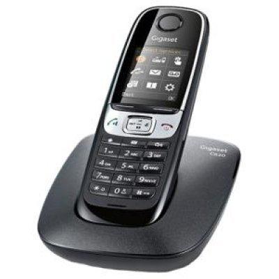 Радиотелефон Gigaset C620 (S30852-H2403-S301)Радиотелефоны Gigaset<br>Бренд: Gigaset<br>Тип: Базовая станция + трубка<br>Стандарт: DECT/GAP<br>Количество трубок в комплекте: 1<br>Максимальный радиус действия: 50 / 300 м<br>Связь между трубками: между несколькими трубками<br>АОН: есть/есть, журнал на 20 номеров<br>Телефонная книга: есть, на 250 номеров<br>Память: 20<br>Поддержка конфере ...<br>