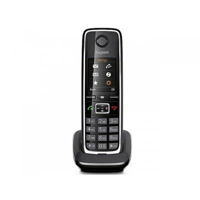 Радиотелефон Gigaset C530H (S30852-H2562-S301)Радиотелефоны Gigaset<br>дополнительная трубка<br>поддержка стандартов DECT/GAP<br>громкая связь (спикерфон)<br>определитель номеров (АОН/Caller ID)<br>аккумуляторы: AAAx2<br>цветной дисплей на трубке<br>полифонические мелодии<br>
