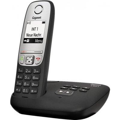 Радиотелефон Gigaset A415A (S30852-H2525-S301)Радиотелефоны Gigaset<br>Бренд: Gigaset<br>Модель: A415 A<br>Тип: Базовая станция + трубка<br>Возможности: Автоответчик,Громкая связь<br>Стандарт: DECT/GAP<br>Цвет корпуса: Черный<br>Количество трубок в комплекте: 1<br>Количество входящих телефонных линий: 1<br>Максимальный радиус действия: Радиус действия в помещении / на открытой местно ...<br>