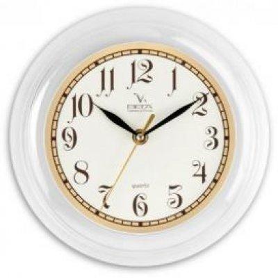 Часы настенные Вега П 6-7-84 (П 6-7-84) часы настенные вега п 1 674 6 304 черно белые ромашки