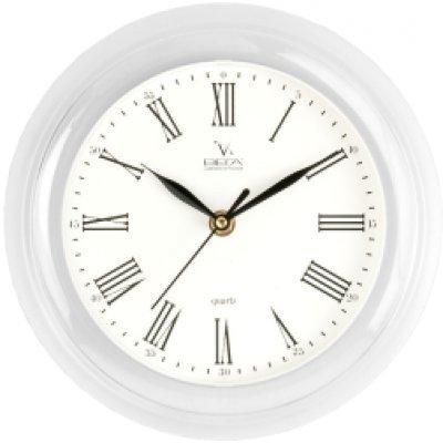 Часы настенные Вега П 6-7-47 Классика белые Римские (П 6-7-47)