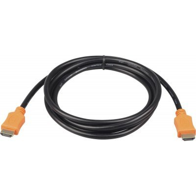 Кабель HDMI Gembird CC-HDMI4L-6 1.8м v1.4 (CC-HDMI4L-6)Кабели HDMI Gembird<br>Кабель HDMI Gembird/Cablexpert, 1.8м, v1.4, 19M/19M, серия Light, черный, позол.разъемы,<br>