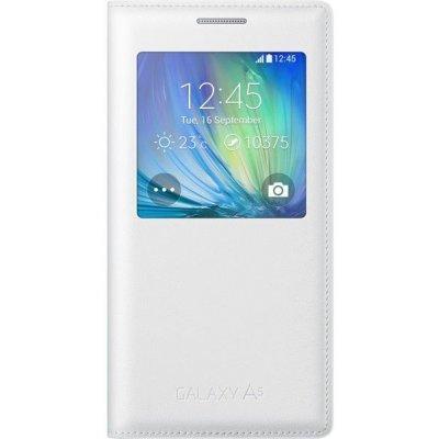 Чехол для смартфона Samsung EF-CA500BWEGRU S-View Cover Galaxy A5 белый (EF-CA500BWEGRU)Чехлы для смартфонов Samsung<br>Sam. чехол A5 S-View white<br>