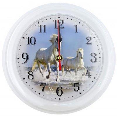 Часы настенные Вега П 6-0-16 Лошади (П 6-0-16)Часы настенные Вега <br>ВЕГА П6-0-16 лошади<br>