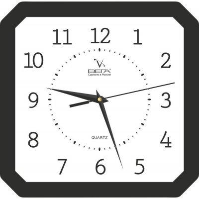 Часы настенные Вега П 6-6-18 классика белые черный кант араб (П 6-6-18)Часы настенные Вега <br>Категория: Сюжетные часы Черный кант Арабские<br>    Тип часов: Часы из пластика<br>    Форма корпуса: П4<br>