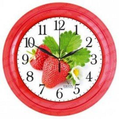 Часы настенные Вега П 6-1-101 Клубника (П 6-1-101)Часы настенные Вега <br><br>