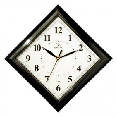 Часы настенные Вега П 3-6-51 Классика 45 град белые черный кант (П 3-6-51)Часы настенные Вега <br><br>