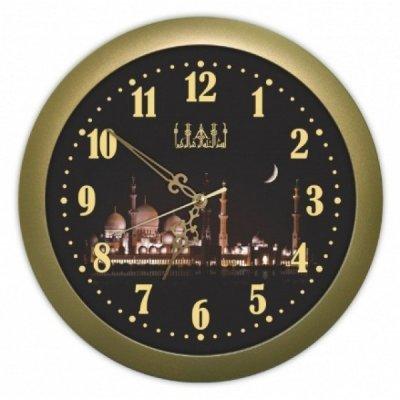 Часы настенные Вега П 6-17-45 Классика белые оранж кант арабские (П 1-8/6-208)Часы настенные Вега <br>часы мусульманскиеТемный город. Тип часов: Часы из пластика. Форма корпуса: П1.<br>