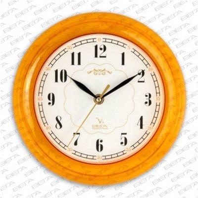 Часы настенные Вега П 6-17-20 Классика белые оран кант арабские (П 6-17-20)Часы настенные Вега <br><br>