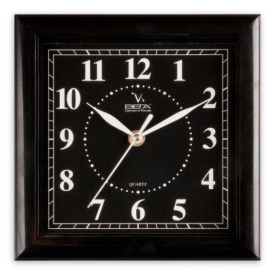 Часы настенные Вега П 3-6-47 Классика Черные (П 3-6-47)