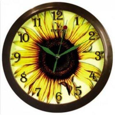 Часы настенные Вега П 1-9/7-15 Подсолнух (П 1-9/7-15)Часы настенные Вега <br><br>
