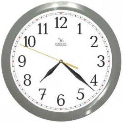 Часы настенные Вега П 1-5/7-98 Классика арабские кольцо серое (П 1-5/7-98)