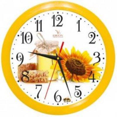 Часы настенные Вега П 1-2/7-118 Мед и подсолнух Яркие (П 1-2/7-118)Часы настенные Вега <br>Сюжетные часы<br>    Часы из пластика<br>    Форма корпуса: П1<br>    Мед и подсолнух<br>