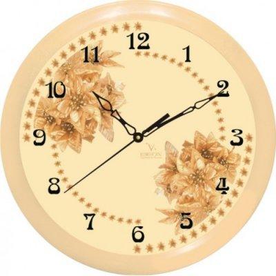 Часы настенные Вега П 1-14/7-52 Бежевые Цветы арабские (П 1-14/7-52)Часы настенные Вега <br>Размер, мм (В x Ш x Г): 285 x 285 x 40,5<br><br>Материал: Пластик<br><br>Тип механизма: кварцевый<br>