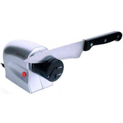 Точилка для ножей Smile KS 805 10Вт (KS 805)Точилки для ножей Smile <br>Тип: Ножеточка<br>Бренд: Smile<br>Модель: KS 805<br>Тип поставки: отдельный предмет<br>Количество предметов: 1<br>Материал изготовления: пластик<br>Цветовое оформление: серебристый<br>Прочие особенности и свойства: Пазы для заточки расположены под углом, для более удобного использования и правильной заточки ноже ...<br>