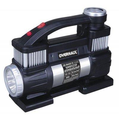 Автомобильный компрессор Overhaul OH 6502 двухцилиндр. 12В,40л/мин 300Вт (OH 6502)Автомобильные компрессоры Overhaul<br>Компрессор автомобильный двухцилиндровый 12В, 25А, 300Вт, 40 л/мин, 10,5 кгс/кв.см<br>