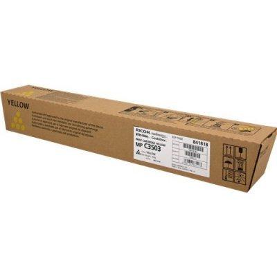 Тонер-картридж Ricoh тип MP C3503 желтый (841818)Тонер-картриджи для лазерных аппаратов Ricoh<br>MP C3003, C3003SP, C3003ZSP, C3503, C3503SP, C3503ZSP.<br>лазерная печать, желтый, 18000 стр., Ricoh MPC3003 Ricoh MPC3503<br>